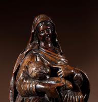 Charming Maria Lactans Sculpture Continental Early 18th Century (10 of 14)