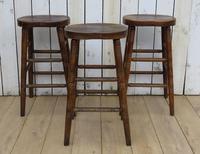 Set of Three Oak Bar Stools (8 of 8)