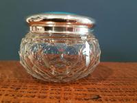 Antique Silver & Turquoise Enamel Dressing Table Jar (4 of 5)