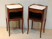 Pair of French Mahogany Inlaid Bedside Cabinets (6 of 10)