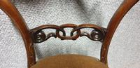 Pair of Victorian Rosewood Hall Chairs (4 of 7)