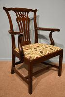 18th Century Chippendale Period Mahogany Armchair (6 of 7)