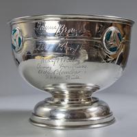 Rare Arts & Crafts Liberty & Co HM Silver & Enamel Cymric Bowl c.1905- Signed (13 of 14)