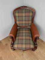 Unique Victorian Mahogany Library Arm Chair (4 of 7)