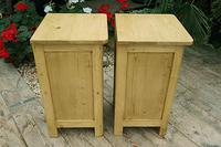 Cute & Quality Old Stripped Pine Bedside Cabinets (8 of 9)