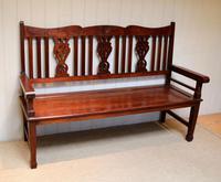Edwardian Style Mahogany Bench (2 of 11)