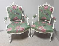 Wonderful Pair of French Painted Chairs (3 of 13)