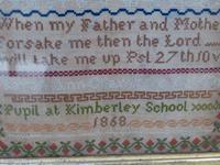 1868 Kimberley School Antique Needlework Sampler Sara Ann Chambers (7 of 11)