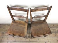 Pair of Welsh Oak Bar Back Farmhouse Chairs (9 of 15)