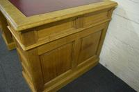 Antique Solid Oak Pedestal Desk (10 of 10)