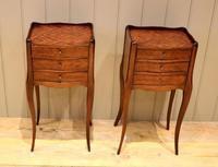 Pair of Mahogany Inlaid Bedside Cabinets (2 of 10)