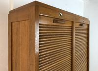 Vintage French Mid Century Double Filing Cabinet Tambour Roller Shutter by G Moreux (7 of 13)