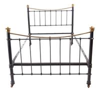 Antique Victorian Brass and Iron Bed (7 of 7)