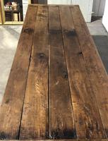 Very Early Oak Farmhouse Refectory Dining Table (23 of 31)