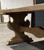 Large Rustic Bleached Oak Farmhouse Refectory Dining Table (15 of 25)
