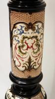 Elegant Victorian Ebony & Porcelain Pedestal or Statue Stand (7 of 15)