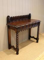 Carved Dark Oak Hall Table (8 of 9)