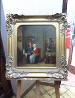 David Teniers The Younger 'After' Dutch Genre Tavern Interior Scene 17th Century Oil Portrait Paintings (9 of 13)