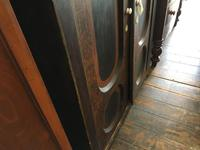 Antique Pine Cupboard Armoire Original Hand Painted (5 of 6)