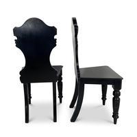 Ebonised Hall Chairs (3 of 4)
