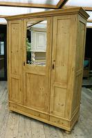 Lovely Old Antique Pine Triple 'knock down' Wardrobe - We Deliver / Assemble (5 of 8)