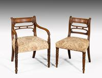 Set of Seven Regency Period Mahogany Framed Chairs (3 of 5)