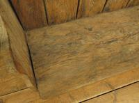 Antique Elm Tavern Bench Settle, Rustic Hall Seat (4 of 19)