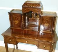 Victorian Mahogany And Inlaid Desk. (9 of 9)