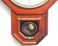 Impressive Victorian American Drop Dial Wall Clock 8 Day Movement Seth Thomas (4 of 12)