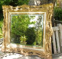 Gilded Rococo Style Wood Mirror Bevelled Glass 1900 (6 of 12)