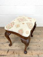 Late Victorian Carved Mahogany Stool (7 of 8)