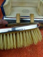Antique Sterling Silver Hallmarked Cased Faux Tortoise Shell Brush & Comb Set with Mirror 1926 (5 of 12)