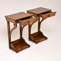 Pair of Antique Empire Style Fruitwood Side Tables (4 of 8)