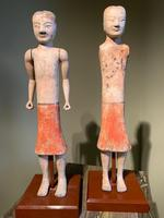 Two Han Dynasty Chinese Pottery 'Stick Men' figures '200BC-200AD' (2 of 8)