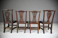 4 Antique Chippendale Style Mahogany Dining Chairs (11 of 12)