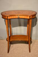 Satinwood Kidney Table Floral Marquetry (5 of 6)