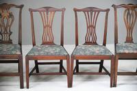 4 Antique Chippendale Style Mahogany Dining Chairs (7 of 12)