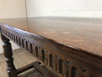 Early 20th Century Antique Oak Refectory Table (M-1739) (10 of 16)