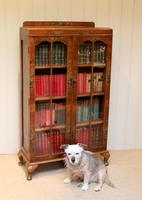 Walnut Chinoiserie Decorated Bookcase (3 of 10)