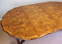 Antique Burr Walnut Extending Dining Table Eight Seater (7 of 14)