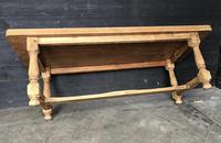 Bleached Oak Wide Farmhouse Dining Table (5 of 15)