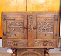Carved Oak Sideboard Cupboard (2 of 13)