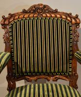 William IV Carved Oak Armchair (5 of 5)