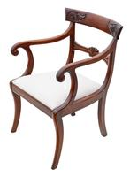 Set of 6 (4 +2) Regency Cuban Mahogany Dining Chairs 19th Century C1825 (4 of 15)