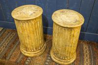 Pair of 19th Century Simulated Marble Plinths. Reeded Pedestal Columns (2 of 6)