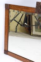 Art Deco Oak Mirror / Overmantle Mirror (4 of 13)