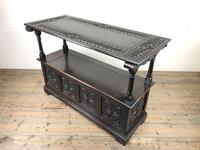 Early 20th Century Stained Oak Monk's Bench (9 of 14)