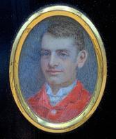 Fine 19thc Miniature Watercolour Portrait Painting of 'William George Dickinson' (7 of 11)