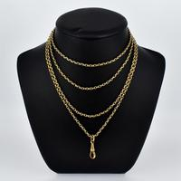 Antique Victorian Long Rolled Gold Guard Muff Chain Necklace (2 of 9)