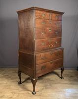 Handsome elegant 18th century oak country-house chest on chest (8 of 12)